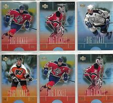 2000-01 Upper Deck Reserve 6-card Big Ticket Hockey Insert Lot  Martin Brodeur