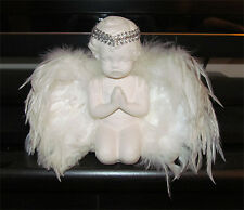 ANGEL FIGURINE Praying Cherub with Feather wings NEW