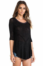 NWT FREE PEOPLE INTIMATELY TOP SHIRT PULLOVER BLACK COMBO NEW BOHO L