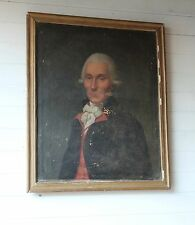 Early 19th C  French School Oil On Canvas Portrait Antique France Painting