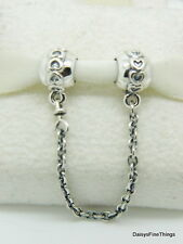 NEW! AUTHENTIC PANDORA CHARM LOVE CONNECTION SAFETY CHAIN #791088-05