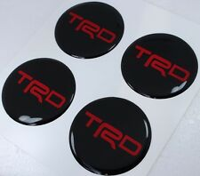 TRD RED 6 cm Wheel Hub Cap Emblem Badge Logo Decal Sticker Center Toyota New