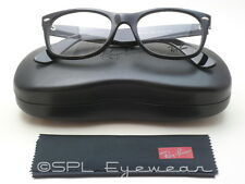 Ray Ban Glasses New Wayfarer Optics RX RB5184 2000 Black Frame Clear Lens 52-18
