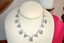 NIB $85 CAROLEE Art Deco Bib Necklace Swarovski CZ Crystals Bridal Special Occas