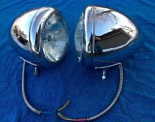 GUIDE BLC 682-J CHROME HEADLIGHTS FORD CHEVY 1932 HOT RAT ROD SCTA 682J 1936 39
