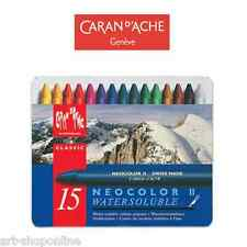 Caran D'Ache Neocolour II Watercolour Crayons Set of 15