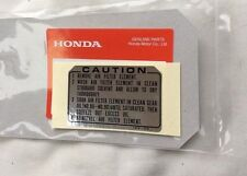 Genuine Honda Z50J Air Cleaner Decal Z50 ST70 Monkey Bike Dax Z50m