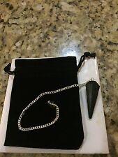 Black Tourmaline Crystal Pendulum Reiki Healing Dowsing Gemstones