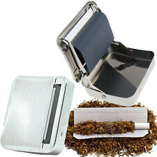 TOBACCO CIGARETTE ROLLING MACHINE METAL ROLLER TIN METAL SMOKING BOX HOLDER ROLL