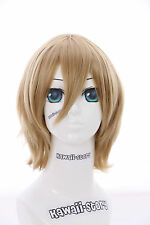 W-10-25 Blonde court 33cm Bob Perruque COSPLAY Perruque Cheveux