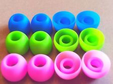 6Pairs M-Blue Green Pink In-Ear Earphone Soft Silicone Earbud Bud Tips Pads Case