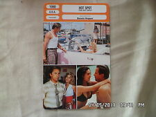 CARTE FICHE CINEMA 1990 HOT SPOT Don Johnson Virginia Madsen Jennifer Connelly