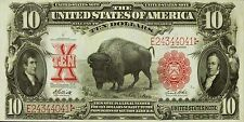 PHOTO MAGNET USA Reproduction 1901 Ten Dollars Treasury American Bison MAGNET