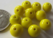 100 Vintage Japanese Glass Yellow Lampwork Round Necklace Beads 7.5mm - 8mm