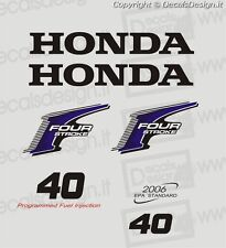 Adesivi motore marino fuoribordo Honda 40 cv four stroke gommone barca stickers