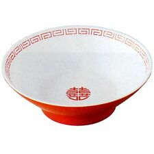 Japanese Ramen Bowl DONBURI Dish White Red CA-12 Made in JAPAN