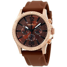 Caravelle New York 44 mm Analog Display Japanese Quartz Brown Men's Watch 44A102