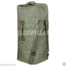 Made in Usa Army Military Duffle Bag Sea Bag OD Green Top Load Shoulder Straps