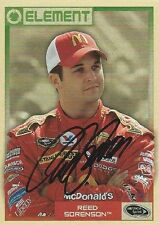 REED SORENSON AUTOGRAPHED SIGNED 2010 WHEELS ELEMENT RACING NASCAR TRADING CARD