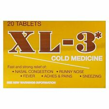 XL-3 Cold Medicine 20 Tablets, Best By :  01/18