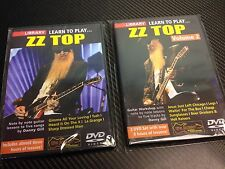 Lot of 2 Lick Library DVD's Learn to Play ZZ Top Vol 1 & 2 *Fast Free Shipping*