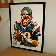 Tom Brady, the New England Patriots, Quarterback, Football, 18x24 POSTER w/COA