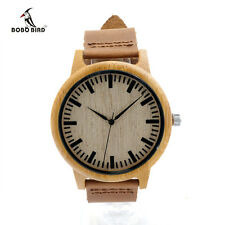BOBO BIRD Bamboo Watches Relogio Masculino Wood Wristwatch Quartz Fashion Watch