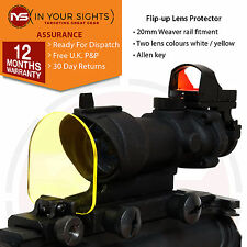 Rifle sight lens protector screen/Airsoft holographic sight screen Acog, 551 552