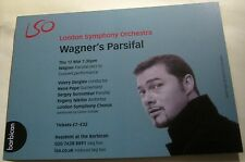 Advertising London Symphony Orchestra Wagner's Parsifal Music Classical Barbican