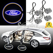 4X NO Hole Drill Car LED Door Logo Projector Ghost Shadow Laser Light for Ford