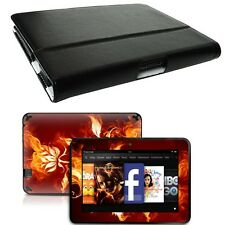Genuine Leather Case Cover for Amazon Kindle Fire HD 7 inch + Skin Accessory B01