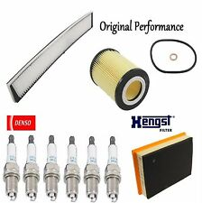 Tune UP KIT Cabin Air Oil Filters Spark Plugs for BMW 328Ci E46 2000