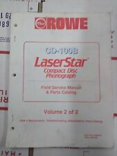 rowe cd-100b laserstar compact disc phonograph arcade manual #2