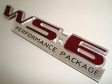 WS6 EMBLEM RED CARBON FIBER DESIGN Pontiac TRANS AM Firebird CETA GM LICENSED
