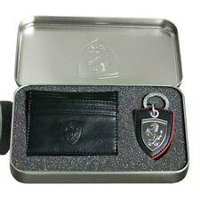 Men's Puma Ferrari Key Ring and Wallet Card Holder Gift Set Unique Present Black
