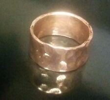 Handmade Hammered Solid Copper Band, Men or Women, Any Size