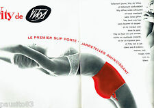 PUBLICITE ADVERTISING 1016  1963  Vity de Vitos  (2p) slip porte jaretelles sous