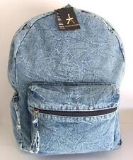 PRIMARK ATMOSPHERE # XL Backpack Denim Jeans Canvas # Bag Rucksack # Blue