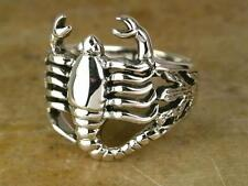 STERLING SILVER DETAILED SCORPION RING size 8  SCORPIO  style# r0552