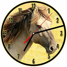 """8"""" WALL CLOCK - Horse 10 Horses Equestrian - Kitchen Office Bathroom Bar Bedroom"""