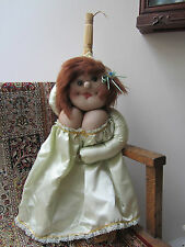 "1965 WHIMSY-CARICATURE BROOM DOLL 'SALOME'. 28"", HAND MADE GIFT. VGC. ""READ"""