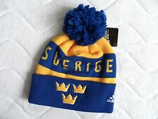 ADIDAS SWEDEN ICE HOCKEY WORLD CUP TORONTO Canada BEANIE BOBBLE Toque Tags