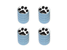 Paw Print - Dog Cat Tire Rim Valve Stem Caps - Light Blue