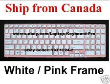 SONY SVE151E11L SVE15111FDP Keyboard - White / Pink Frame US English 149170411US