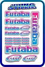 FUTABA SERVO RADIO RX TX 2.4G FLIGHT REMOTE CONTROL STICKERS FASST BLUE PINK W