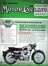 Jan 28 1960 MATCHLESS 'Model G12'  Motor Cycle ADVERT - Magazine Cover Print