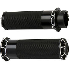 Arlen Ness Black Beveled Fusion Hand Grips for 2008-2015 Harley Touring