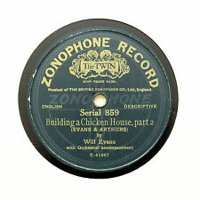 "WILL EVANS ""Building A Chicken House"" ZONOPHONE 859 [78 RPM]"
