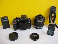 Nikon D5200  24.1 MP + Nikon AF-S 18-55mm VR ..with ONLY 1550 Shutter Clicks