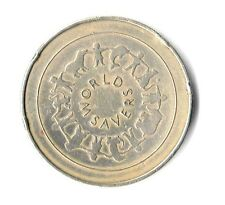 """NatWest World Savers Medal Royal Mint Elephant Bronze 1.5"""" Coin Dated:1990."""